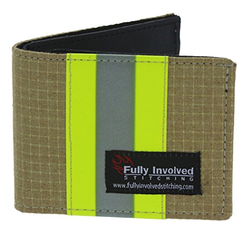 Firefighter Bi-fold Wallet Made From Turnout Bunker Gear Material