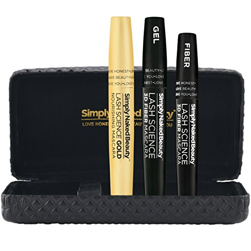 3D Fiber Lash Mascara with Growth Enhancing Serum by Simply Naked Beauty. Castor Oil Lash Growth Mascara. Organic & hypoallergenic ingredients. Waterproof, smudge proof & last all day.