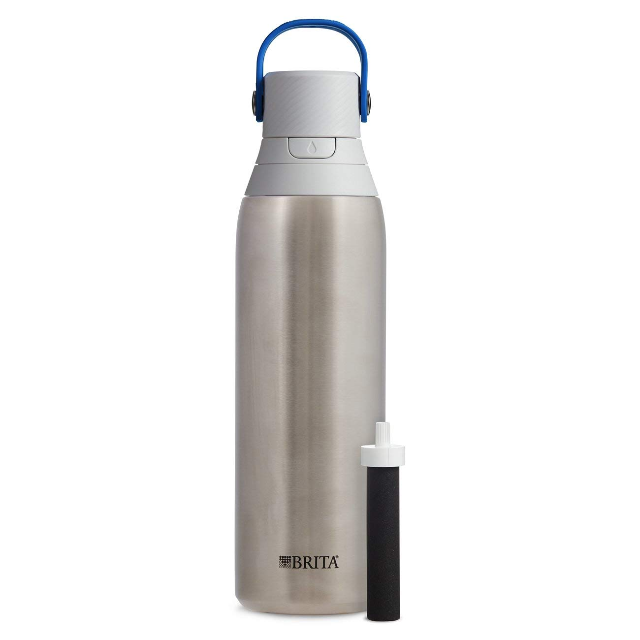 Brita 20 Ounce Premium Filtering Water Bottle With Filter Bpa Free   Stainless Steel by Brita
