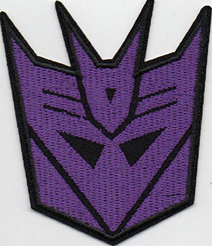 (Transformers Decepticons Robot Iron-on Patch Embroidered Logo Badge)
