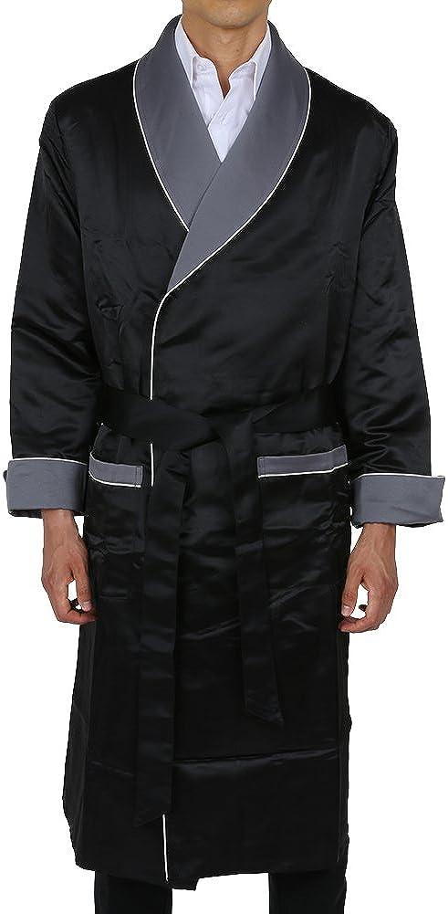 Duke /& Digham Mens Long Heavyweight Satin Robe LSR-1001