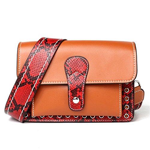 Shopping Bag Leisure And Package Diagonal Xuanbao Handbag Leather Women's Practical Simple Shoulder SE0ZPwq