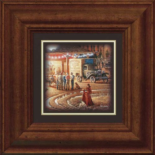 Harvest Moon Ball - Red Dress Framed Print by Terry Redlin