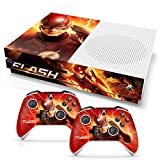 Controller Gear Officially Licensed By Xbox and WB Console and Dual Controller Combo Skin The Flash: Lightning Strikes Design for Xbox One S. Protective Vinyl Cover - Xbox One