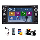 FREE rear camera+ Double 2 din GPS Navigation Car Stereo Radio for Toyota Corolla Ex 2008 2009 2010 2011 2012 2013 DVD Player with Touchscreen Bluetooth ipod FM/AM +4 gb SD map card+Remote control