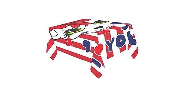 Happy más Custom cute cat American bandera Protector para mesa ...