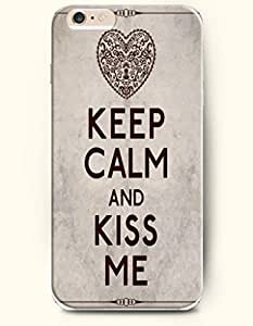 iPhone Case, SevenArc iPhone 6 (4.7) Hard Case **NEW** Case with the Design of KEEP CALM AND KISS ME - Case for Apple...
