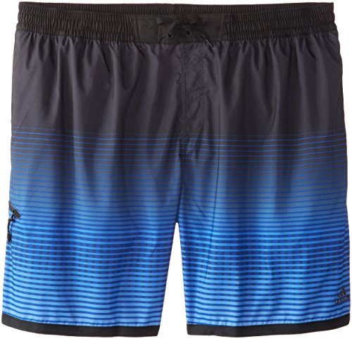 adidas Men's Big Tall G Stripe Volley Swim Short, Royal, XX-Large/Big