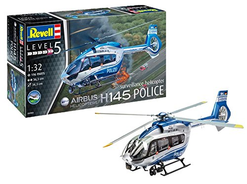 Revell 04980, Airbus H145 Police suveillance helicopter, 1:32 Scale Plastic Model