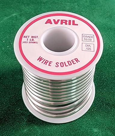 "Solder 50/% Tin // 50/% Lead Roll 1//8/"" dia - 1 lb"