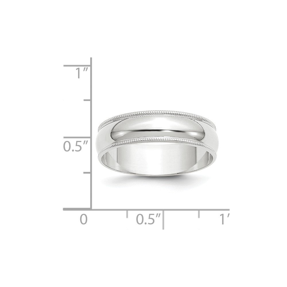 Jewels By Lux 14KY 6mm LTW Milgrain Half Round Band