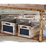 Antique Style Produce Crates with Chalkboard Labels