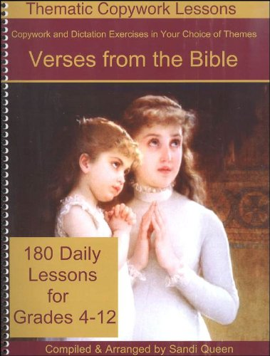 Verses From the Bible for Copywork (Thematic Copywork Lessons)