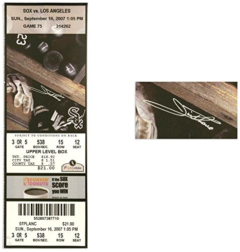 (Jim Thome Chicago White Sox 500th HR Game Autographed Mega Ticket - Fanatics Authentic Certified - MLB Autographed Miscellaneous Items)