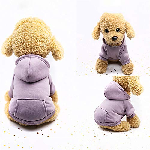 Hpapadks Pet Pocket Sweater,Pet Dog Solid Color with