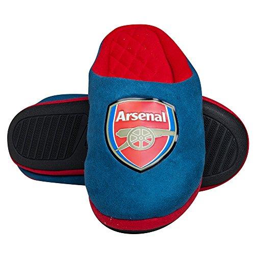"Arsenal ""Le jeu Pantoufles-bleu marine/rouge"