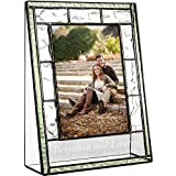 personalize photo - J Devlin Pic 389-46V EP545 Engraved Glass Picture Frame Personalized Wedding Engagement 4 x 6 Vertical Photo
