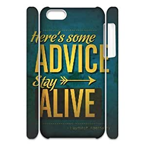 3D iPhone 5C Cases The Hunger Games Quotes Stay Alive, Shock Absorbing The Hunger Games Cases Yearinspace, {White}