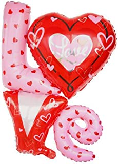 East Utopia Foil Balloons Wedding Valentine's Day Decorations Balloons 2Pcs