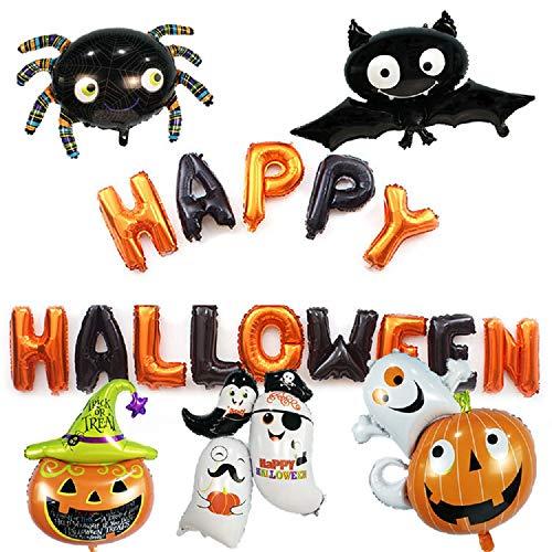 Love Needs Halloween Balloons Set Happy Halloween Letter Decoration Ghost Spooky Bat Pumpkin Spider Halloween Party Home Bar Garden Decor