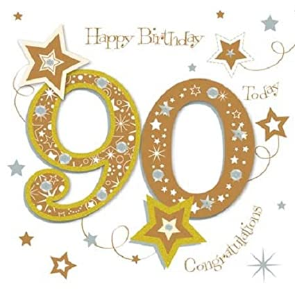 Image Unavailable Not Available For Color Happy 90th Birthday Greeting Card