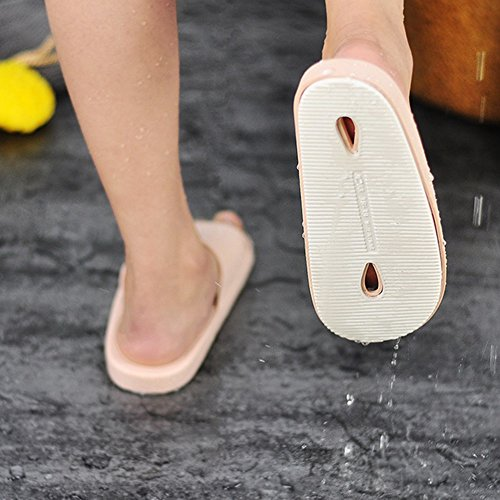 Flip Flop Female Summer Indoor Slippery Bath Slippers Soft Home Home Bathroom With Slippers Couple Home Cool Slippers Home Slippers (6 Colors Optional) (Size Optional) A PWLE2