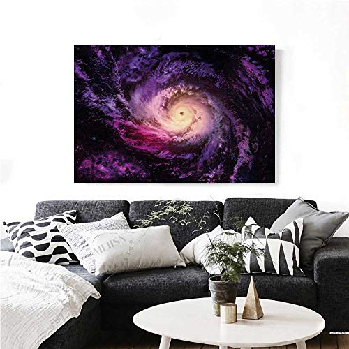 homehot Galaxy Canvas Wall Art for Bedroom Home Decorations Purple Nebula Cloudy Stardust Cluster Digital Print of a Galaxy in Space Image Art Stickers 28