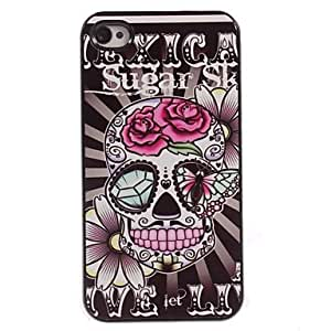 MOFY- caso duro cr‡neo de la flor dise–o de aluminio para el iphone 4 / 4s