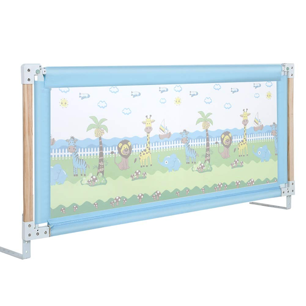 ベッドフェンス- ベッドガードレールブルー、05歳児用ベッドフェンス、ベッドレール1.2m、1.5M 1.8M 2M (サイズ さいず : 200cm) 200cm  B07RSG928V