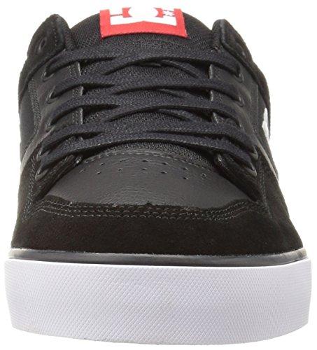 Dc Mens Pure Action Sport Sneaker Noir / Athlétique Rouge