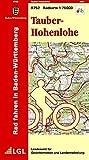 Tauber-Hohenlohe: R752 Radkarte 1:75 000