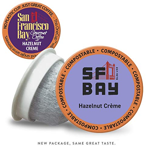 SF Bay Coffee Hazelnut Crème 120 Ct Flavored Medium Roast Compostable Coffee Pods, K Cup Compatible including Keurig 2.0 (Packaging May Vary) (Best Places To Visit In San Francisco Bay Area)