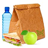 Large Reusable Brown Paper Lunch Bag Box Sack Insulated – a-la Brown Paper Bag Durable Insulated Thermal Bento Cooler Leakpromping Picnic Container with Magnetic Cof Calosure