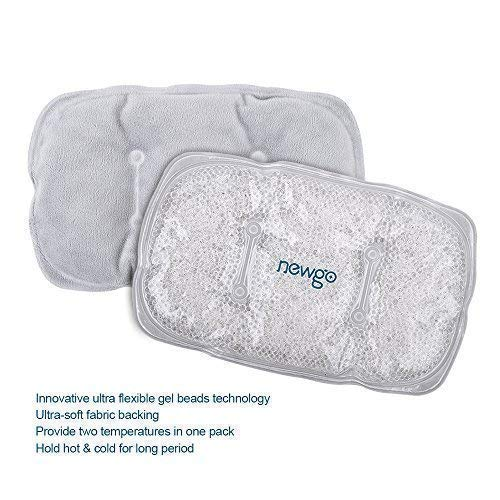 NEWGO®Ice Packs for Injuries Reusable Cold Compress with Plush Backing, Flexible Cold Gel Packs Soft Peas Ice Packs for Pain Relief(10.4 X 6.7)- 1 Pack