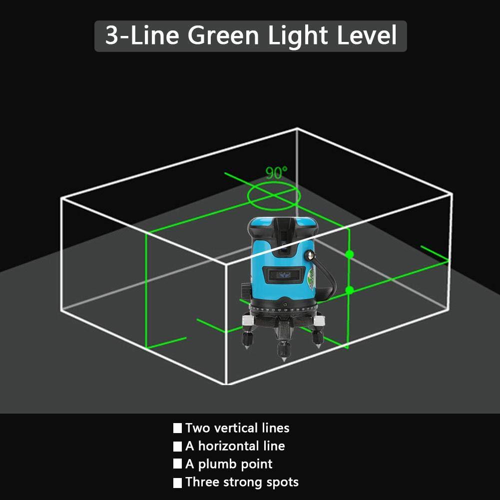 prise europ/éen 5 Line EU Plug Niveau laser Vert 360 Degr/és 2//3//5 Ligne Vert Nivellement Automatique Niveau laser Croix Horizontale Verticale Croix /à 360 Degr/és 100-240V