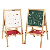 Best Kids Easels - Arkmiido Kids Easel Double-Sided Whiteboard & Chalkboard Standing Review