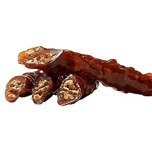Turkish Delight Candy - churchkhela georgian, cevizli sucuk (400gr) loqum walnut fresh gourmet food vegan candy mix vegan international candy snacks assorted caremel gift