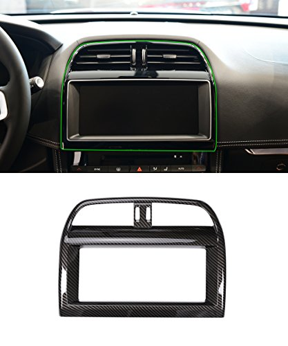 ABS Carbon Fiber Style Interior Navigation Screen Frame Trim For Jaguar XE XEL F-Pace f pace X761 by METYOUCAR