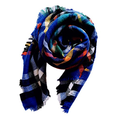 Summer Mae Kids Girls Boys Stylish Warm Plaid Scarf Gorgeous Wrap Shawl