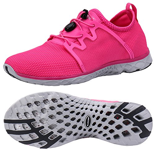 (ALEADER Women's Adventure Aqua Water Shoes Fushia 9.5 D(M))