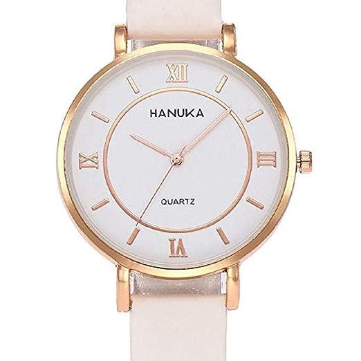 Scpink Relojes de Mujer termocromáticos, Relojes de liquidación Femeninos a la Venta número Romano Relojes de Dama Relojes de Cuero (Blanco): Amazon.es: ...