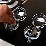 Baba Mate Clear View Stove & Oven Knob Covers- New Care Baby Child Kids Safety & Kitchen Tools-Safety Heat-Resistant Material-2 Count