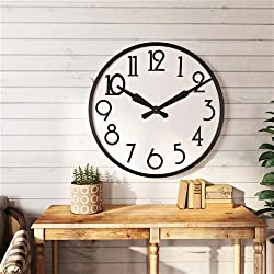 Aspire Home Accents 7470 Corby Large Wall Clock44; Black