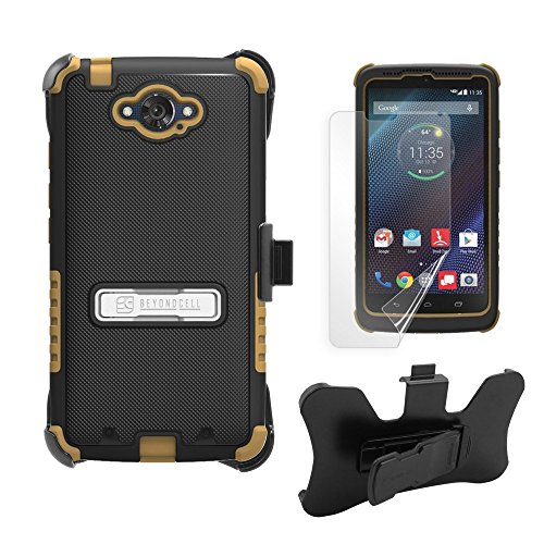 Beyond Cell Case for Motorola Droid Turbo XT1254 - Non-Retail Packaging - Black/Brown