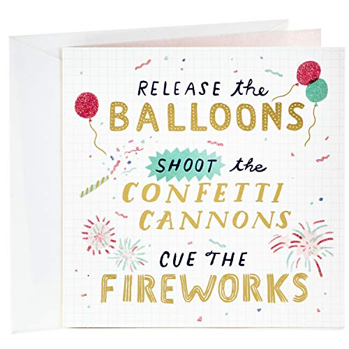 Hallmark Studio Ink Birthday Card (Confetti Cannons)