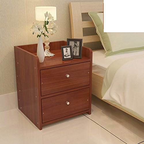 Simple bedside cabinet with assembled wood grain lockers mini bedroom sideboard modern nightstand-C by FJIWDTGYHFGT