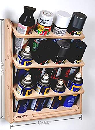 Amazon Com 12 Can Spray Paint Or Lube Can Wall Mount Storage Holder Rack Automotive