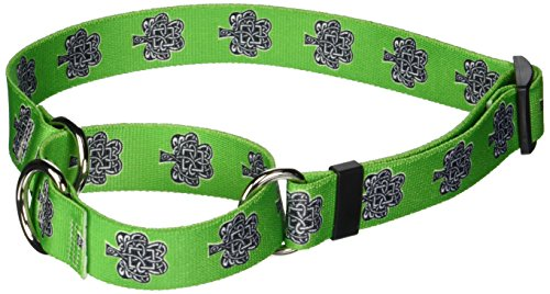 "Knotted Shamrock Martingale Control Dog Collar - Size Large 26"" Long - Made In The USA"