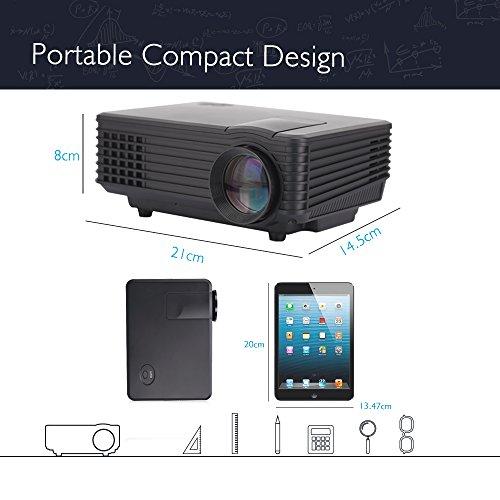 Best led wi fi projector irulu 80 pro portable smart for Portable smart projector