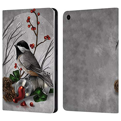- Official Renee Biertempfel Bird Animals Leather Book Wallet Case Cover for Amazon Fire HD 8 (2017)